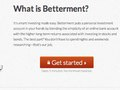 Betterment.com (A financial website and tool) Launch