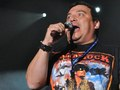 Carlos Mencia wearing the Tour for the Troops T-shirt