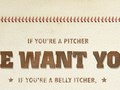 Yard signage to promote little league sign ups.