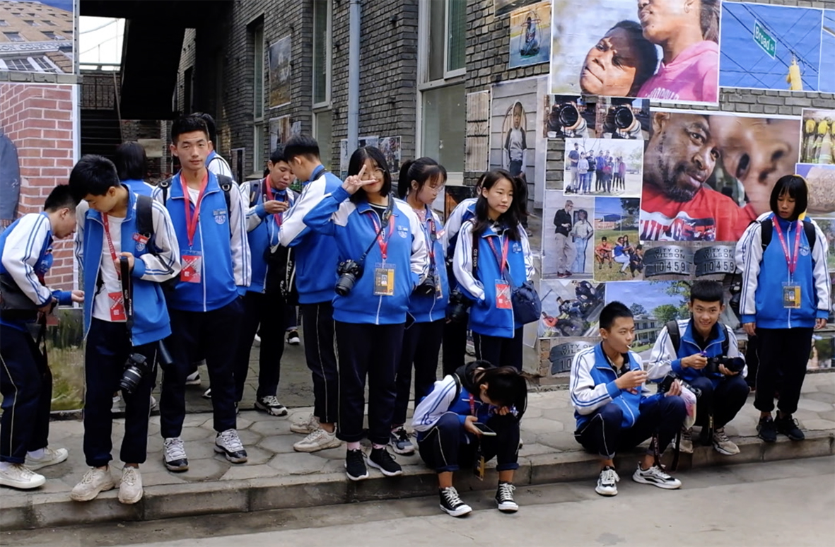 Youth Photography workshop in the streets of Pingyao, China, 2019