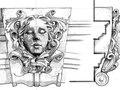 sculptural detail