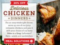 Email promoting chicken + delicious sides.