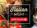 Email to promote Italian Night with Up to 20% Off savings.