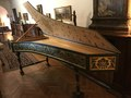 harpsichord decoration Villa i Tatti, Harvard University, Firenze